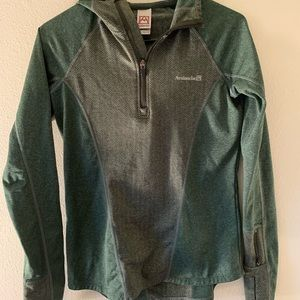 Avalanche 1/4 Zip Hoodie, Sz Small, Green
